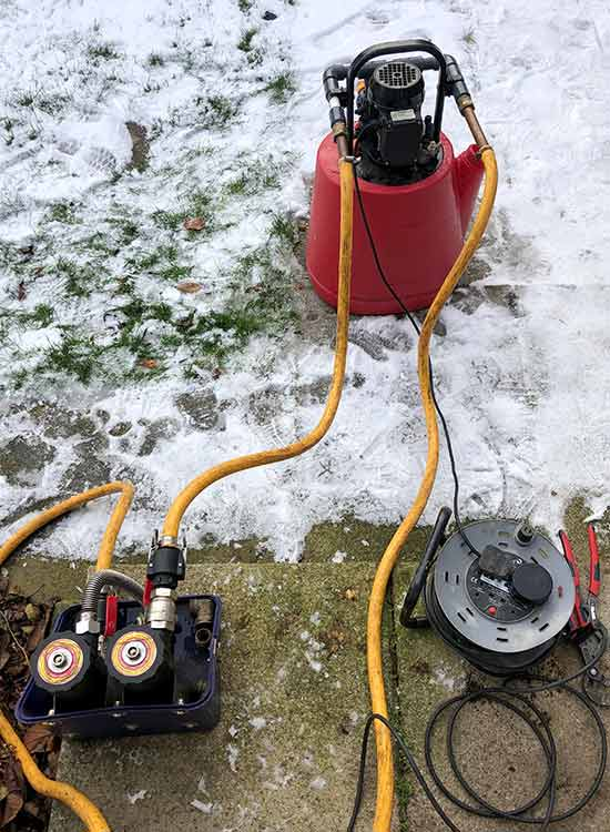 Central Heating Power Flush Pump