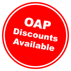 OAP Discounts Sticker